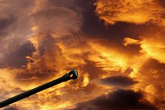 Gun under cloudy sky Royalty Free Stock Photos