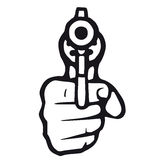 Gun (vector) Royalty Free Stock Images