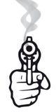 Gun (vector). Take aim with a gun (from cmyk to rgb Royalty Free Stock Photos