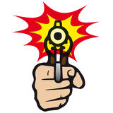 Gun (vector). Take aim with a gun (from cmyk to rgb Royalty Free Stock Images