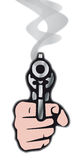 Gun (vector). Take aim with a gun (from cmyk to rgb Stock Images