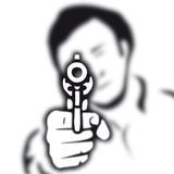 Gun (vector). Take aim with a gun (from cmyk to rgb Royalty Free Stock Image