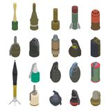 Gun vector military weapon grenade-gun army handgun and war automatic firearm or rifle with bullet illustration set of. Grenade launcher isolated on white stock illustration