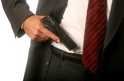 Gun in Waistband Stock Photos