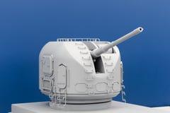 Gun of an warship Royalty Free Stock Image