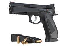 Gun weapon black modern pistol Royalty Free Stock Photography