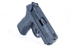Gun. A weapon that is used for firing bullets stock photo