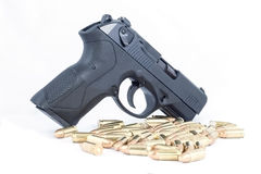 Gun. A weapon that is used for firing bullets royalty free stock image