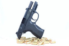 Gun. A weapon that is used for firing bullets royalty free stock photos
