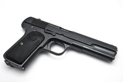 Gun on white background Royalty Free Stock Images