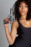 Gun Woman Royalty Free Stock Photography