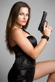 Gun Woman Royalty Free Stock Image