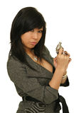 Gun woman Stock Photography