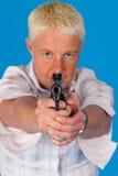 gun woman Стоковые Фотографии RF