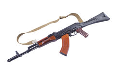 Gun wood Kalashnikov rifle Stock Photos