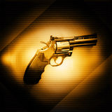 Gun. On Yellow And  Dark Background,Use As Adult Content Stock Photo