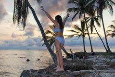 Guna yala Islands, Kuna Yala, San Blas, Panama. Paradise. Sunset. sunrise. Guna Yala Islands, Kuna Yal, San Blas, Panama. Paradise. Sunset. Sunrise royalty free stock photo