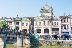 GUNAGDONG,中国- 2015年12月17日:赤崁老镇 一个著名国家 库存照片