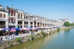 GUNAGDONG,中国- 2015年12月17日:赤崁老镇 一个著名国家 免版税库存图片