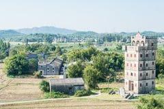 GUNAGDONG, КИТАЙ - 17-ое декабря 2015: Деревня Zili (мир Herit ЮНЕСКО Стоковые Фото