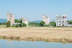 GUNAGDONG, КИТАЙ - 17-ое декабря 2015: Деревня Zili (мир Herit ЮНЕСКО Стоковое фото RF
