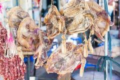 GUNAGDONG, КИТАЙ - 17-ое декабря 2015: Рынок в городке Chikan старом fam Стоковые Изображения RF