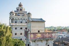 GUNAGDONG, CHINA - 18 de dezembro de 2015: Vila de Jingjiangli (mundo do UNESCO Fotografia de Stock Royalty Free