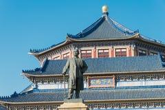 GUNAGDONG, CHINA - 26 de novembro de 2015: Dr. Estátua de Sun Yat-sen no Dr. SU Fotos de Stock Royalty Free