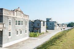 GUNAGDONG, CHINA - 18. Dezember 2015: Jingjiangli-Dorf (UNESCO-Welt Lizenzfreie Stockfotos