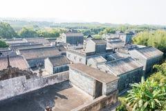 GUNAGDONG, CHINA - 18. Dezember 2015: Jingjiangli-Dorf (UNESCO-Welt Stockfotos