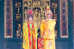 GUNAGDONG, CHINA - 28 Nov. 2015: Chinese opera in Foshan Ancestra Royalty-vrije Stock Foto