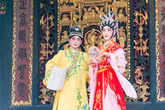 GUNAGDONG, CHINA - 28 Nov. 2015: Chinese opera in Foshan Ancestra Stock Afbeelding