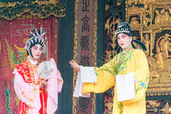 GUNAGDONG, CHINA - 28 Nov. 2015: Chinese opera in Foshan Ancestra Stock Fotografie