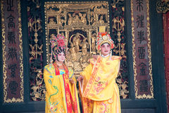 GUNAGDONG, CHINA - 28 Nov. 2015: Chinese opera in Foshan Ancestra Stock Foto
