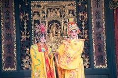 GUNAGDONG, CHINA - Nov 28 2015: Chinese opera at Foshan Ancestra. L Temple(Zumiao Temple). a famous historic site in Foshan, Guangdong, China Stock Photo