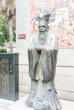 GUNAGDONG, CHINA - Nov 28 2015: Confucius Statue at Foshan Confu. Cius Temple. a famous historic site in Foshan, Guangdong, China Royalty Free Stock Photography