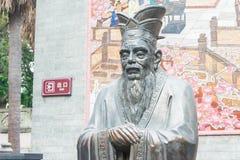 GUNAGDONG, CHINA - Nov 28 2015: Confucius Statue at Foshan Confu. Cius Temple. a famous historic site in Foshan, Guangdong, China Royalty Free Stock Photos