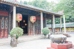 GUNAGDONG, CHINA - Nov 28 2015: Foshan Confucius Temple. a famous historic site in Foshan, Guangdong, China. Royalty Free Stock Image