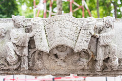 GUNAGDONG, CHINA - Nov 28 2015: Relief at Foshan Ancestral Templ. E(Zumiao Temple). a famous historic site in Foshan, Guangdong, China Royalty Free Stock Photos