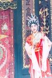 GUNAGDONG CHINY, Nov, - 28 2015: Chińska opera przy Foshan Ancestra obraz stock