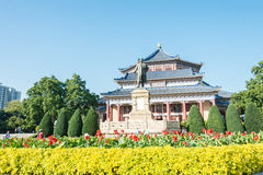 GUNAGDONG CHINY, Nov, - 26 2015: Dr Sun Yat-sen statua przy Dr Su Zdjęcie Stock