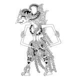 Gunawan Wibisana. A character of traditional puppet show, wayang kulit from java indonesia royalty free illustration