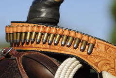 Gunbelt Close-up Stock Images