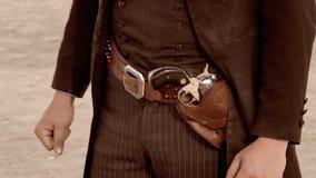 Gunbelt of gunfighter in Tombstone, Arizona Royalty Free Stock Image