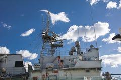 Gunboat in port Royalty Free Stock Photo