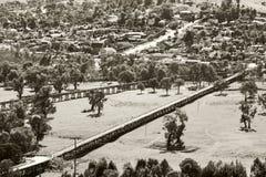 Gundagai historic bridges Royalty Free Stock Image