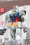 Gundam流动衣服真正的标度18m高 图库摄影