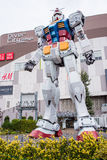 Gundam雕象在DivercCity东京广场的在东京 库存图片