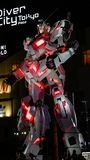 Gundam al naturale a Tokyo, Giappone fotografia stock libera da diritti