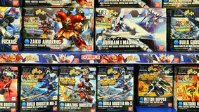 Gundam bandai toys collection Royalty Free Stock Photo